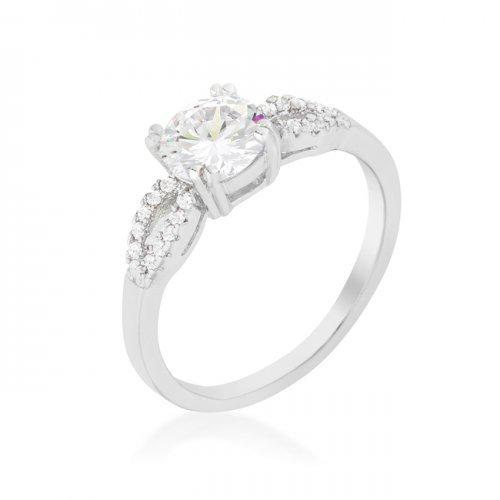Round Solitaire Engagement Ring (size: 09) (pack of 1 ea)