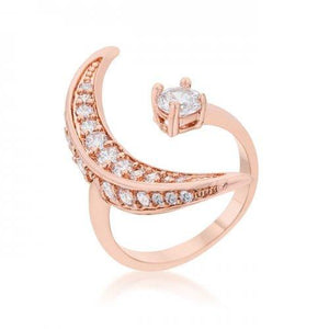 Luna .75ct Cz Rose Gold Delicate Ring (size: 10) (pack of 1 ea)