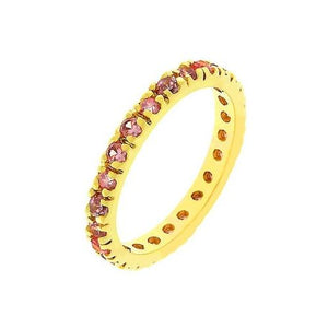 Pink Eternity Ring (size: 10) (pack of 1 ea)