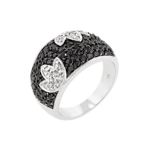 Black And White Cocktail Ring (size: 05) (pack of 1 ea)