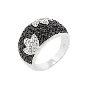 Black And White Cocktail Ring (size: 09) (pack of 1 ea)