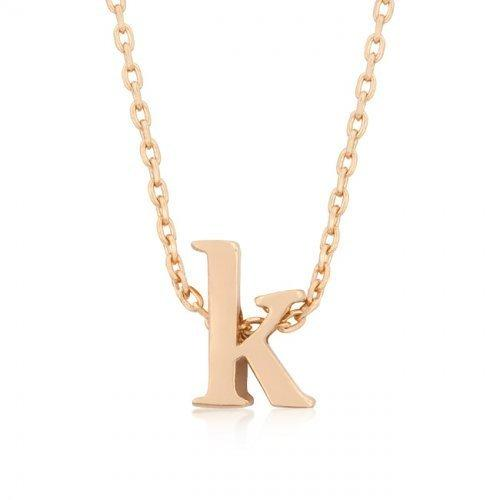 Rose Gold Initial K Pendant (pack of 1 ea)