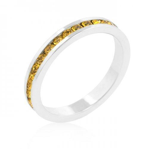 Stylish Stackables With Yellow Crystal Ring (size: 05) (pack of 1 ea)