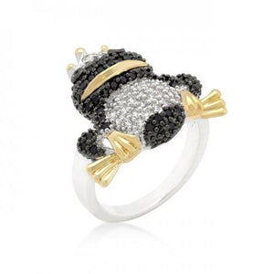 Cubic Zirconia Frog Prince Ring (size: 05) (pack of 1 ea)
