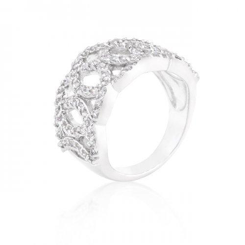 Cubic Zirconia Circular Ring (size: 06) (pack of 1 ea)