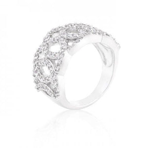 Cubic Zirconia Circular Ring (size: 10) (pack of 1 ea)