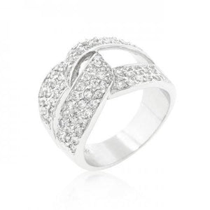 Cubic Zirconia Knot Ring (size: 09) (pack of 1 ea)