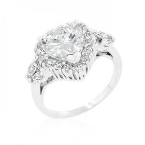 Heart Halo Engagement Ring (size: 10) (pack of 1 ea)
