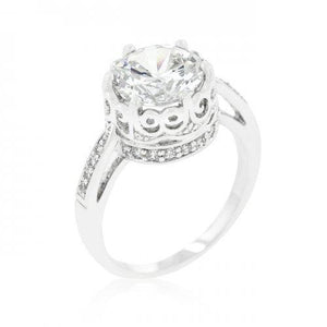 Royal Crest Filigree Cubic Zirconia Ring (size: 06) (pack of 1 ea)