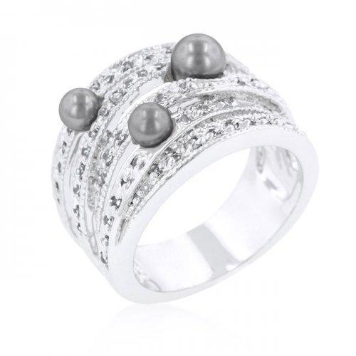 Gray Pearl Cocktail Ring (size: 11) (pack of 1 ea)