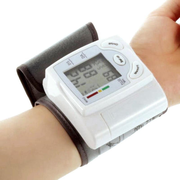 Wrist Digital Blood Pressure Monitor Automatic Upper Arm Meter Pulse Sphygmomanometer Heart Beat Rate Medical Equipment Home