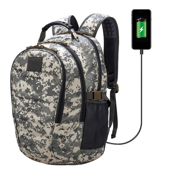 Outdoor USB Charging Military Oxford Camping Hiking Bag - www-skylandmart-com