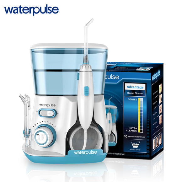 Waterpulse V300G Oral Irrigator 5pcs Tips Dental Water Flosser Water Floss 800ml Oral Hygiene Dental Flosser Water Flossing V300 - www-skylandmart-com