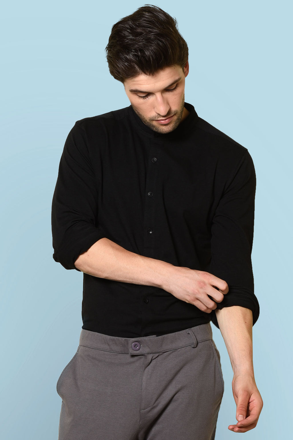 Black color shirt  | knitted shirt | Beyours