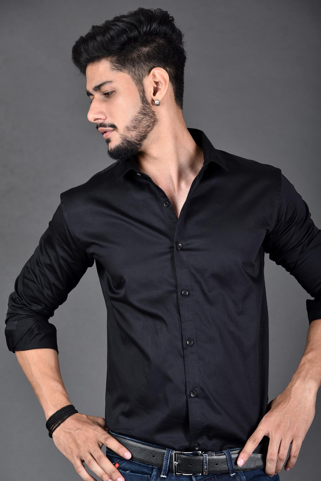 Z-Black Color party wear shirt | Beyours | Minimal clothing