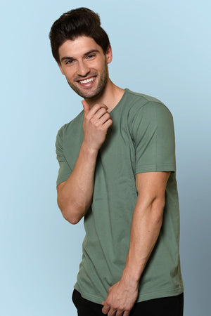 green t-shirt for men online india | Beyours