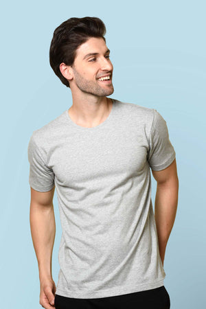 light grey color T-shirt by Beyours