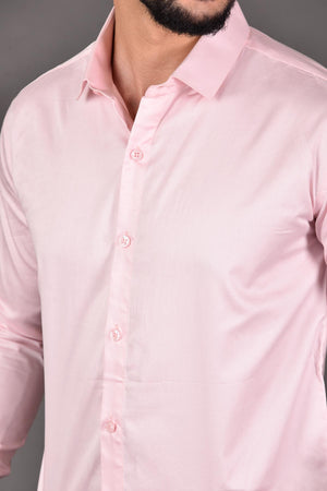 Light pink Color party wear shirt | Beyours | Minimal clothing