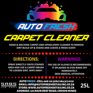 AUTO FRESH - CARPET CLEANER - Auto Fresh Detailing