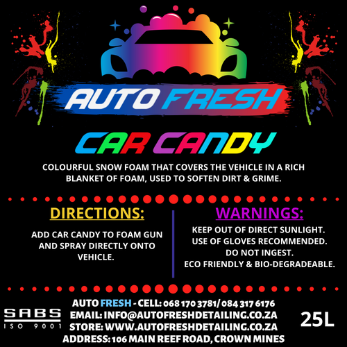 Car Candy Colour Foam - Auto Fresh Detailing