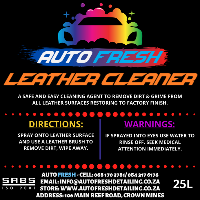 AUTO FRESH - LEATHER CLEANER - Auto Fresh Detailing