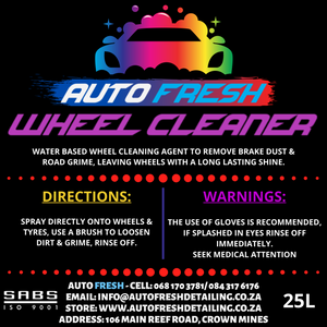 AUTO FRESH - WHEEL CLEANER - Auto Fresh Detailing
