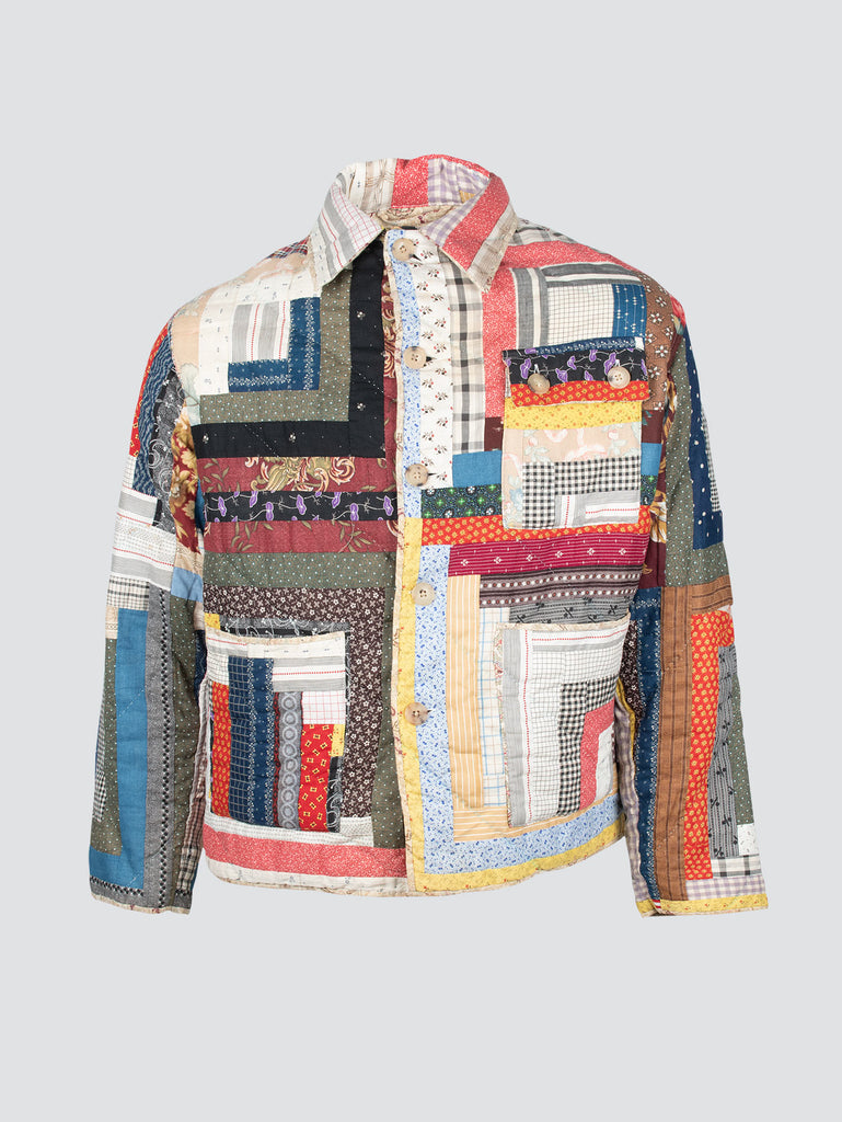Bode Log Cabin Quilt Jacket