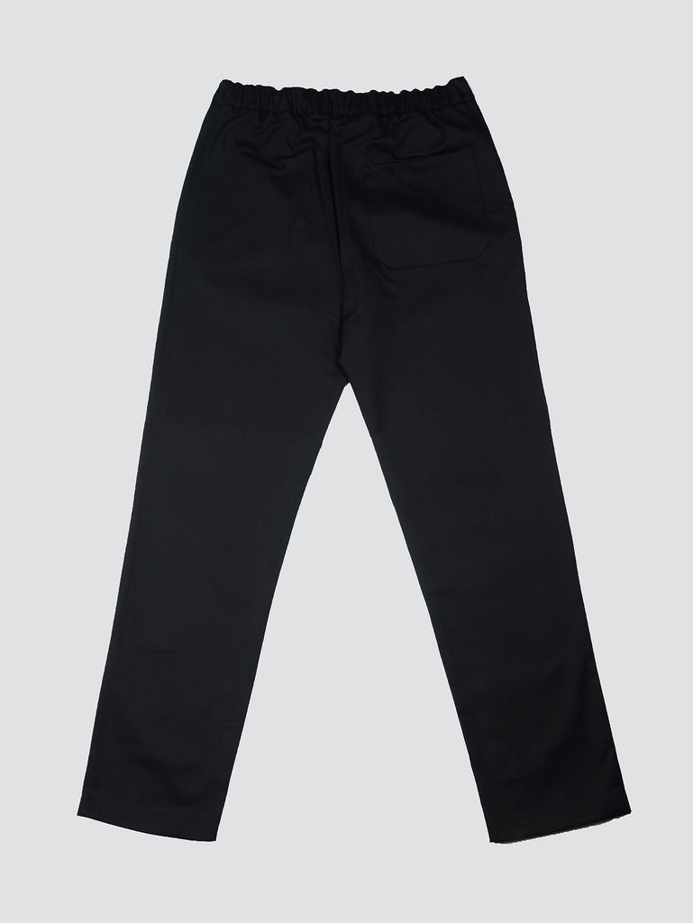 Davi Paris Black Cotton Twill Pants