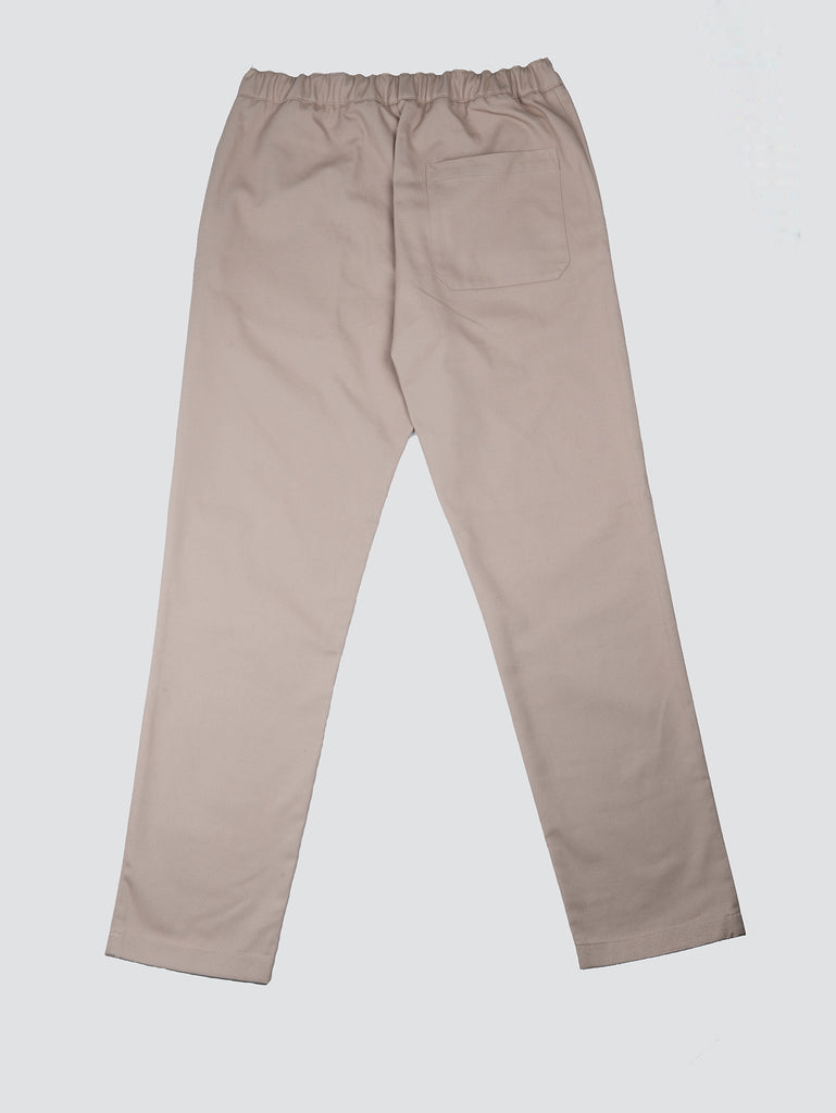 Davi Paris Classic Cotton Twill Pants Nude
