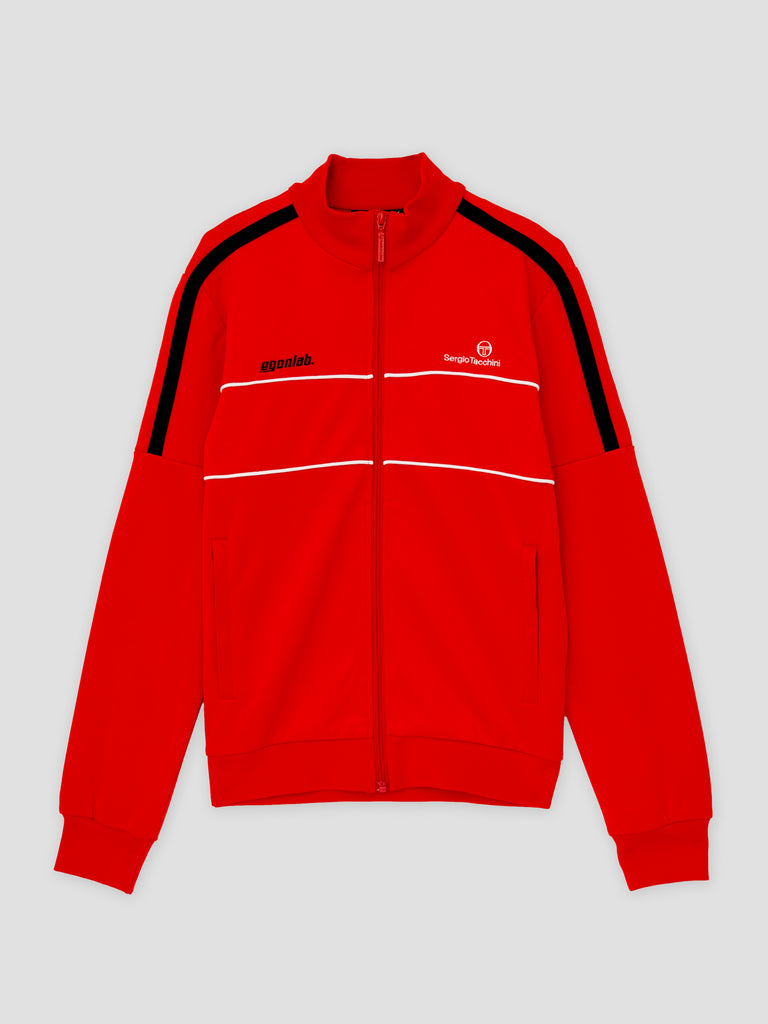 Egonlab x Sergio Tacchini Zipped Tracksuit Top Red