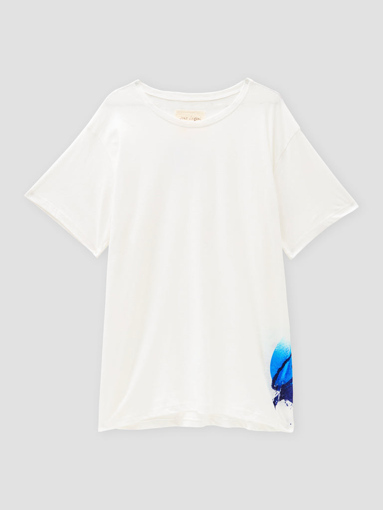 Greg Lauren GL Planet Tee White