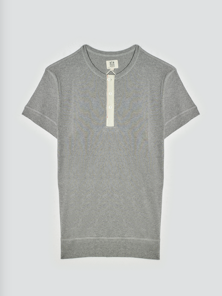 Hemen Henley T-Shirt Luzien Heather Grey