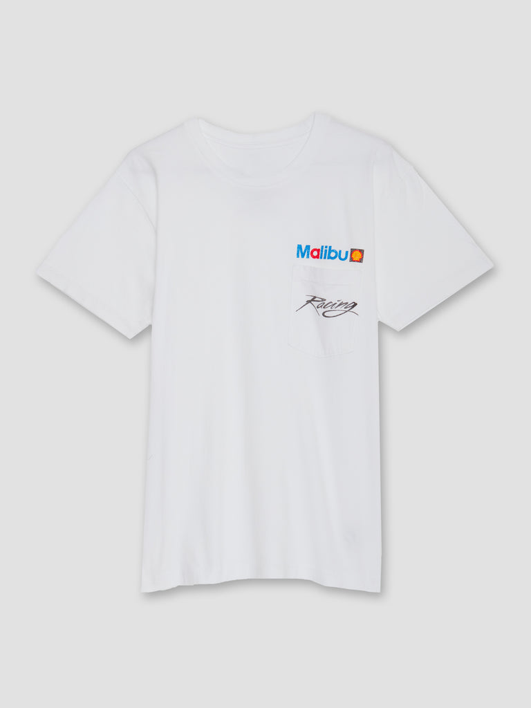 Local Authority Malibu Racing Pocket Tee White