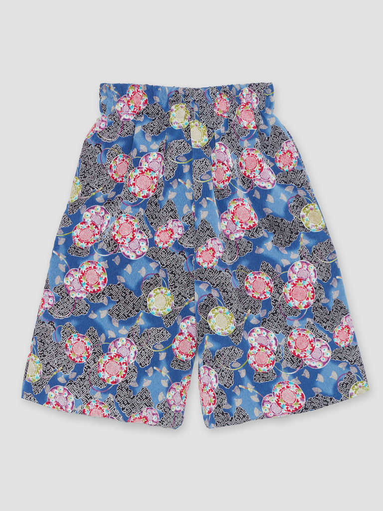 Natasha Zinko Duo Pockets Printed Shorts Navy