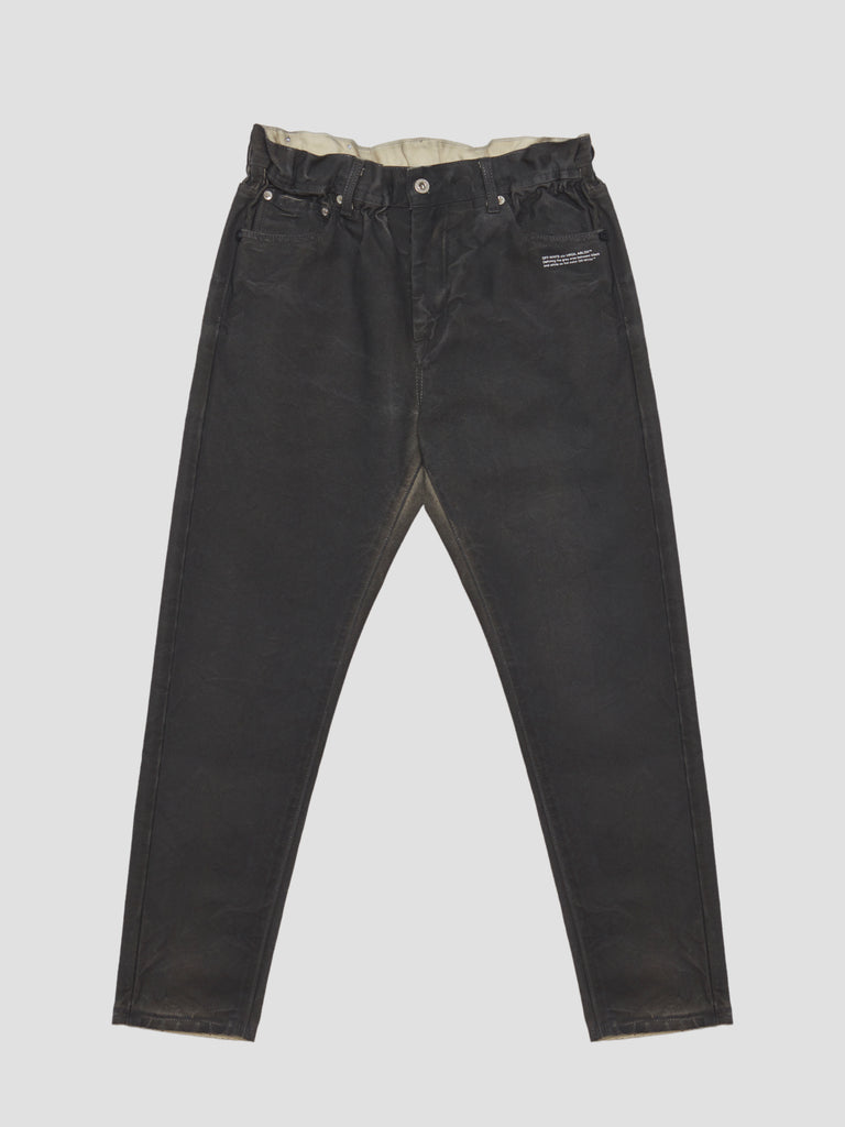 Off-White Slim Low Crotch Jeans Black White