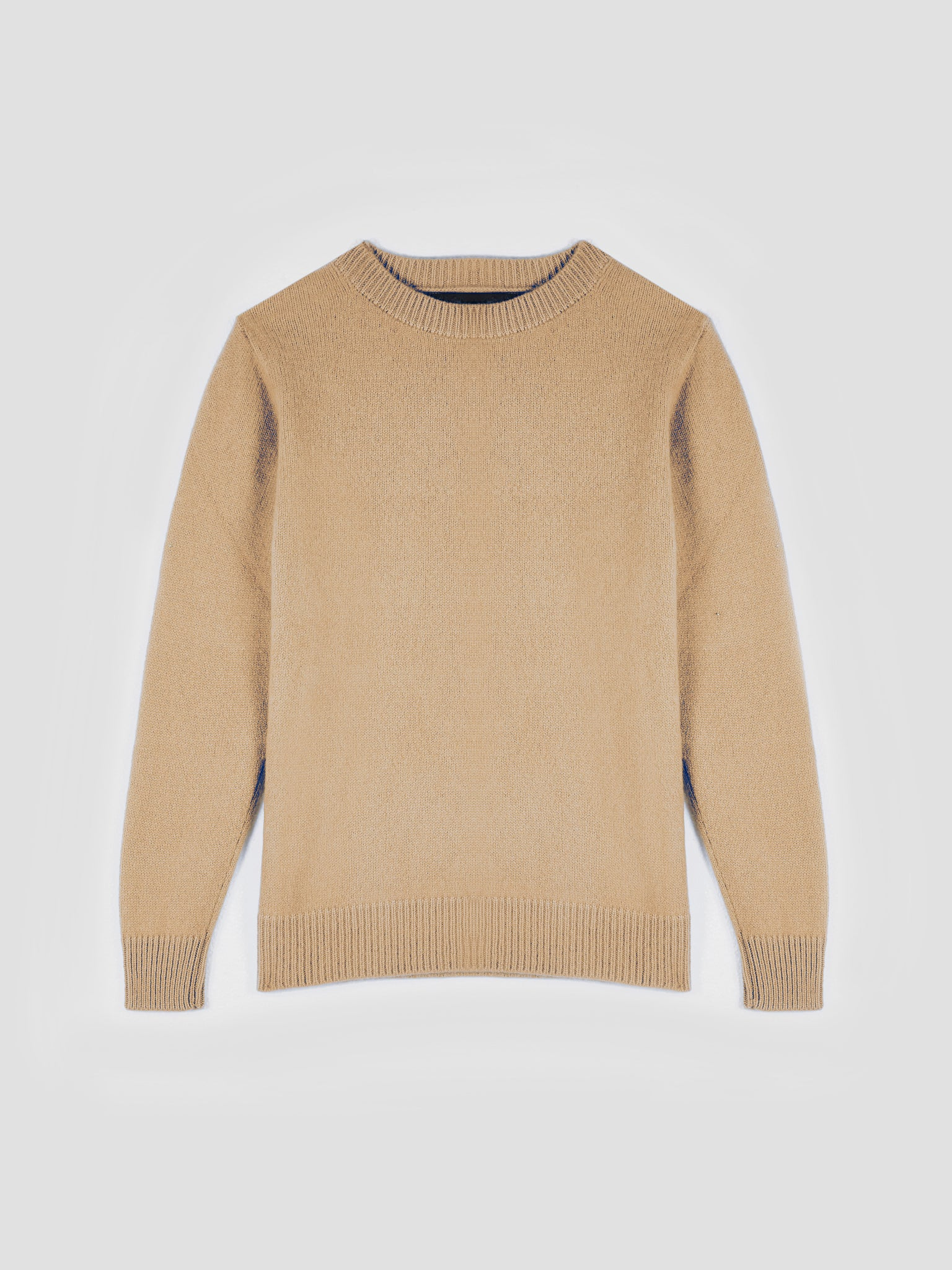 The Elder Statesman Simple Cashmere Sweater Camel
