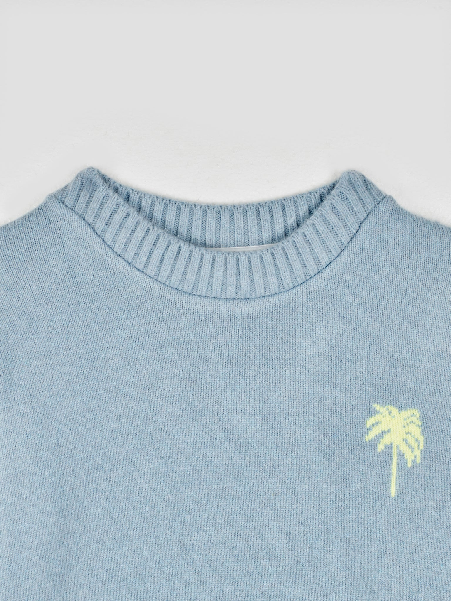 The Elder Statesman Palm Tree Cashmere Sweater