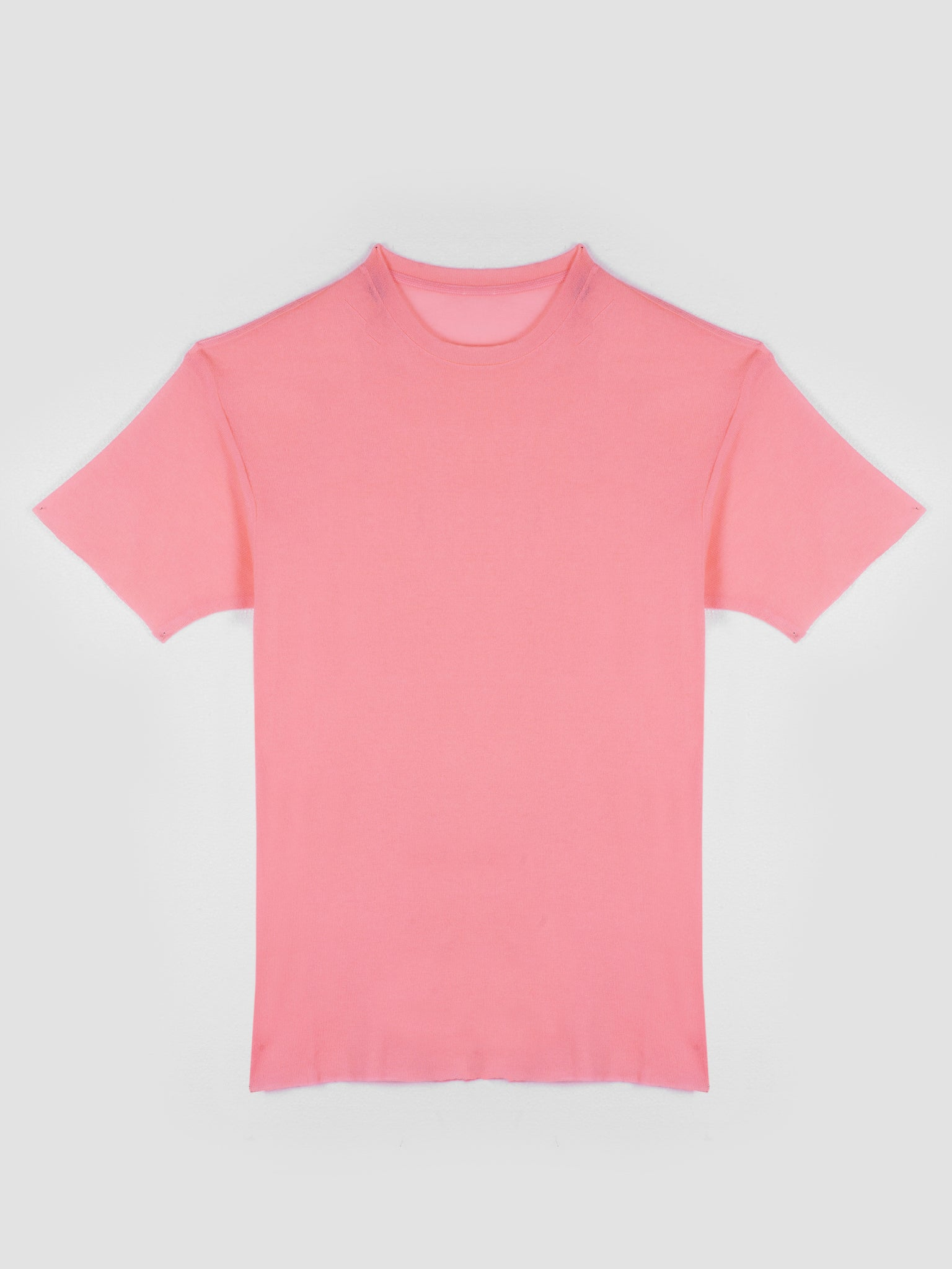 Short Sleeves Tie Dyed Favorite Cashmere T-Shirt Neon Pink