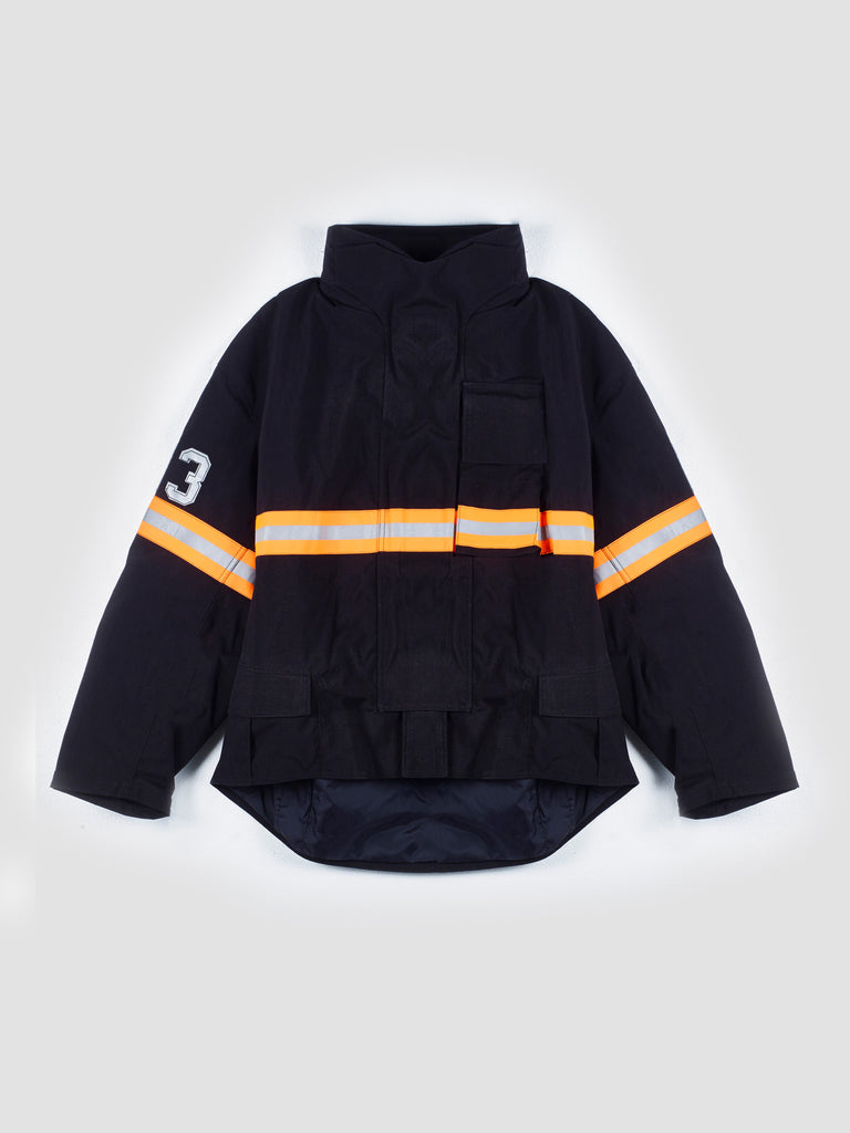 R13 Oversized Black Fireman Jacket