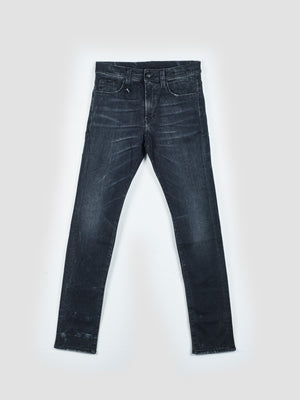 R13 Skinny-Fit Faded Black Greyson Skate Stretch Jeans