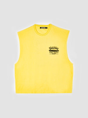 Adaptation Sleeveless Printed Yellow T-Shirt