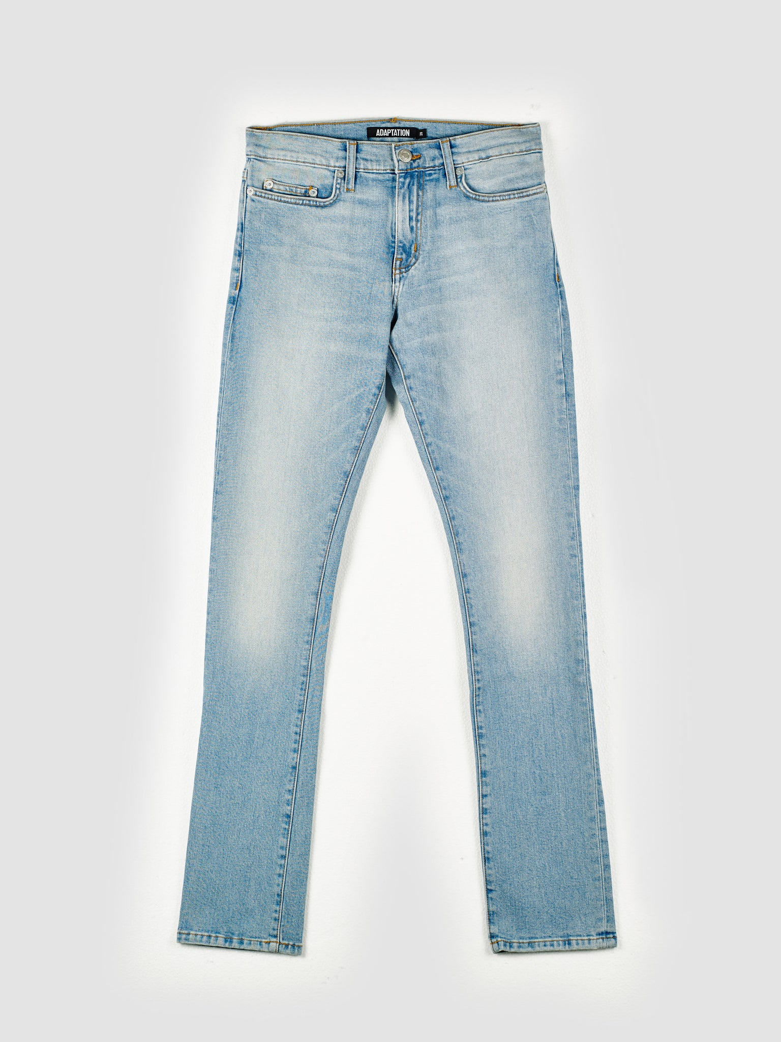 Sky Blue Washed Slim-Fit Skinny Stretch Jeans