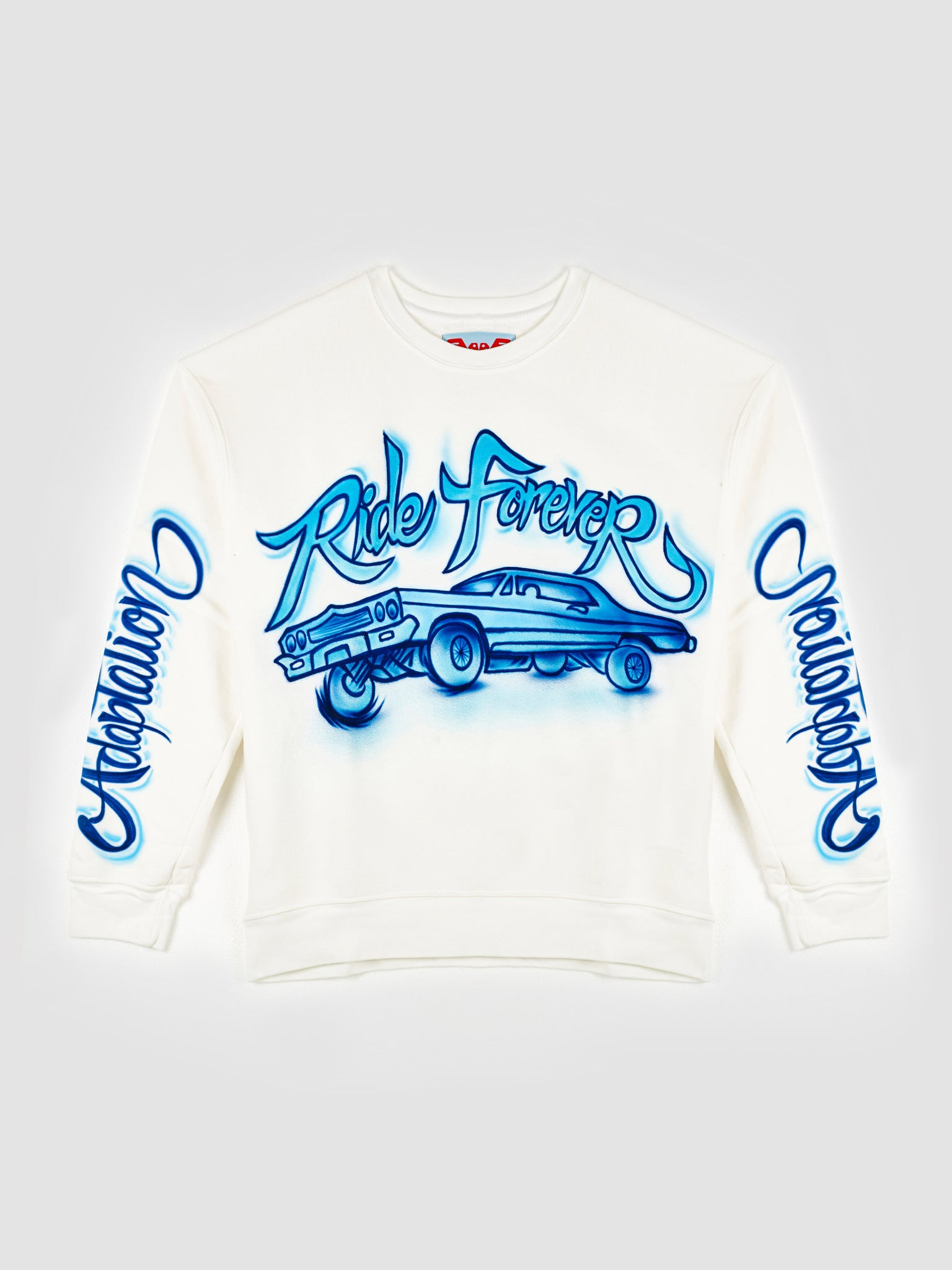 Adaptation Airbrushed White Crew Neck Sweater
