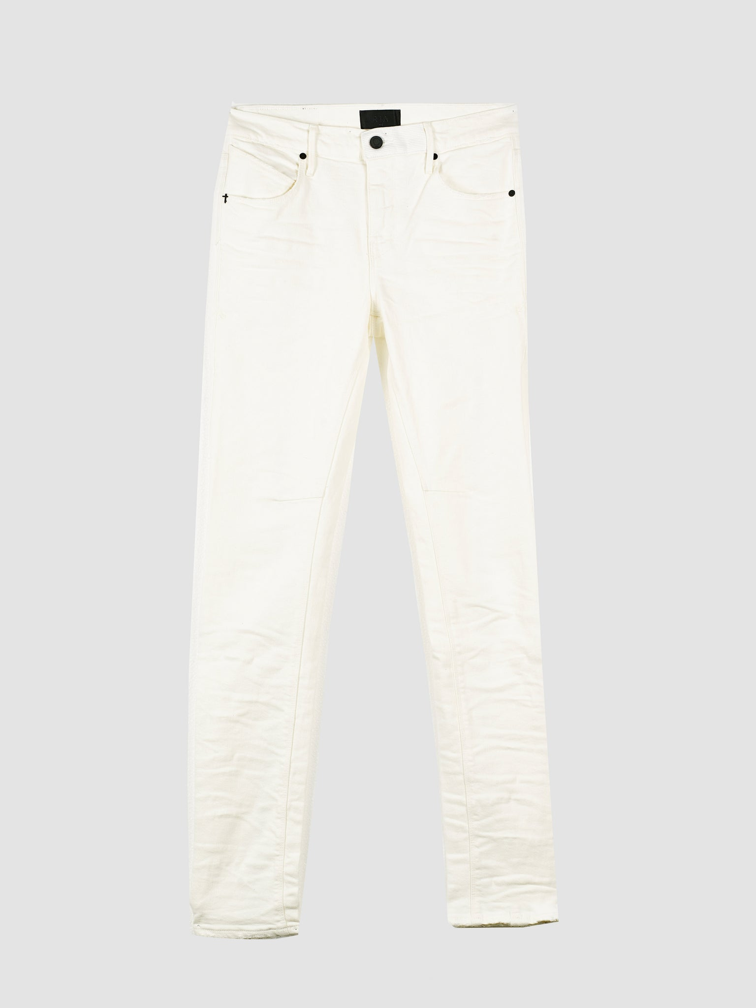 Vintage White Skinny Jeans with Cross