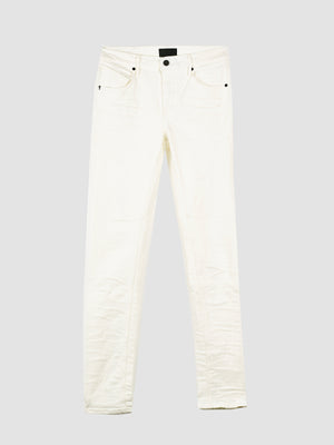 RtA Vintage White Skinny Jeans with Cross