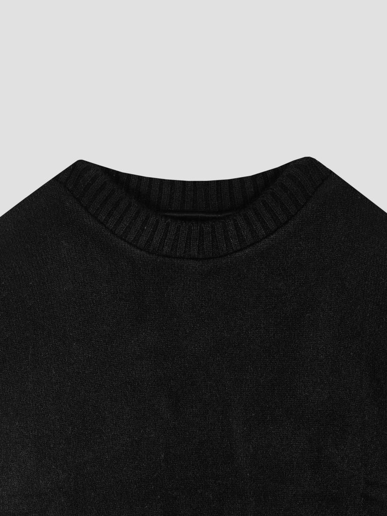 The Elder Statesman Cashmere Sweater with Painted Intarsia in Back