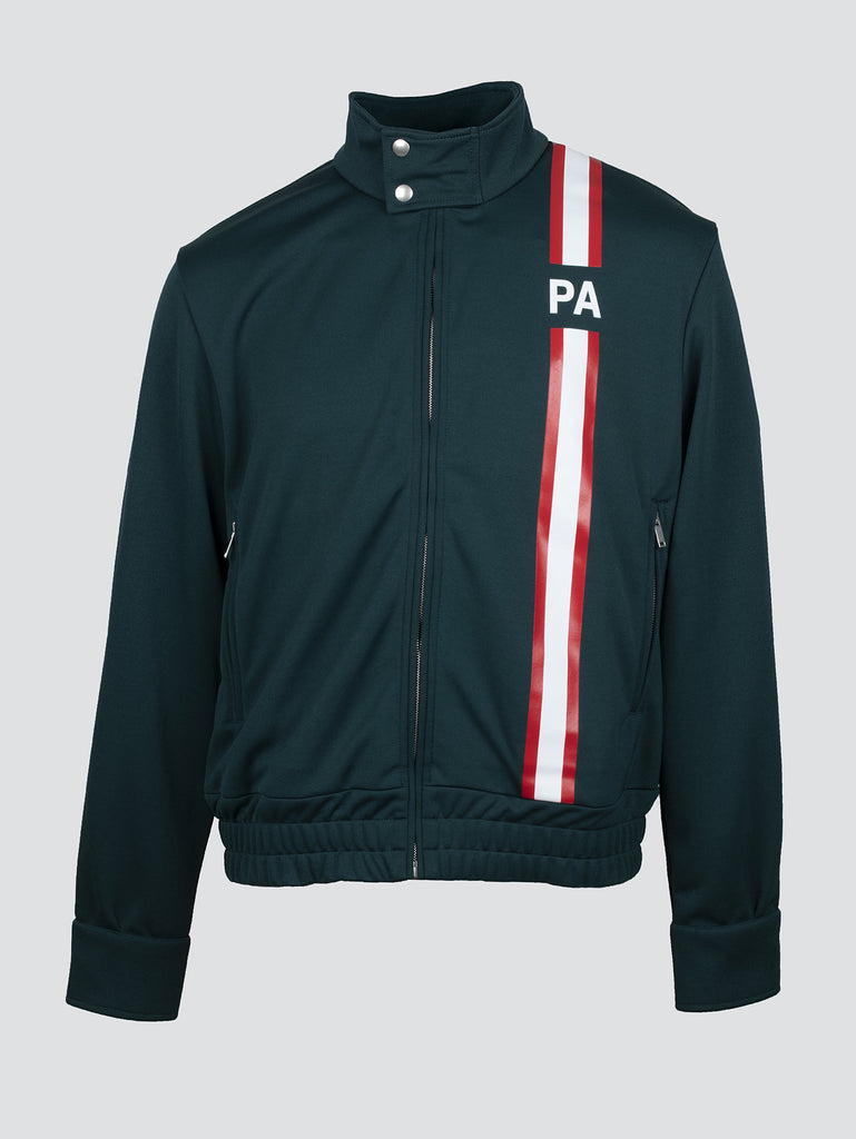 Palm Angels Monogram Track Jacket Dark Green