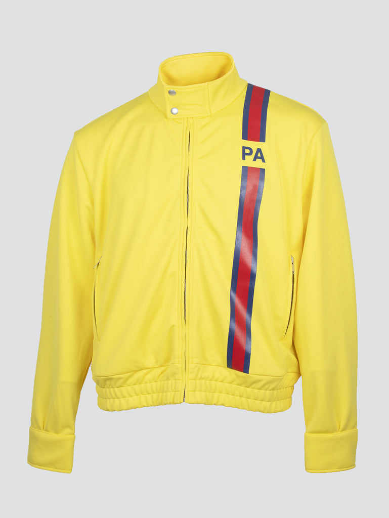 Palm Angels Monogram Track Jacket Yellow Red