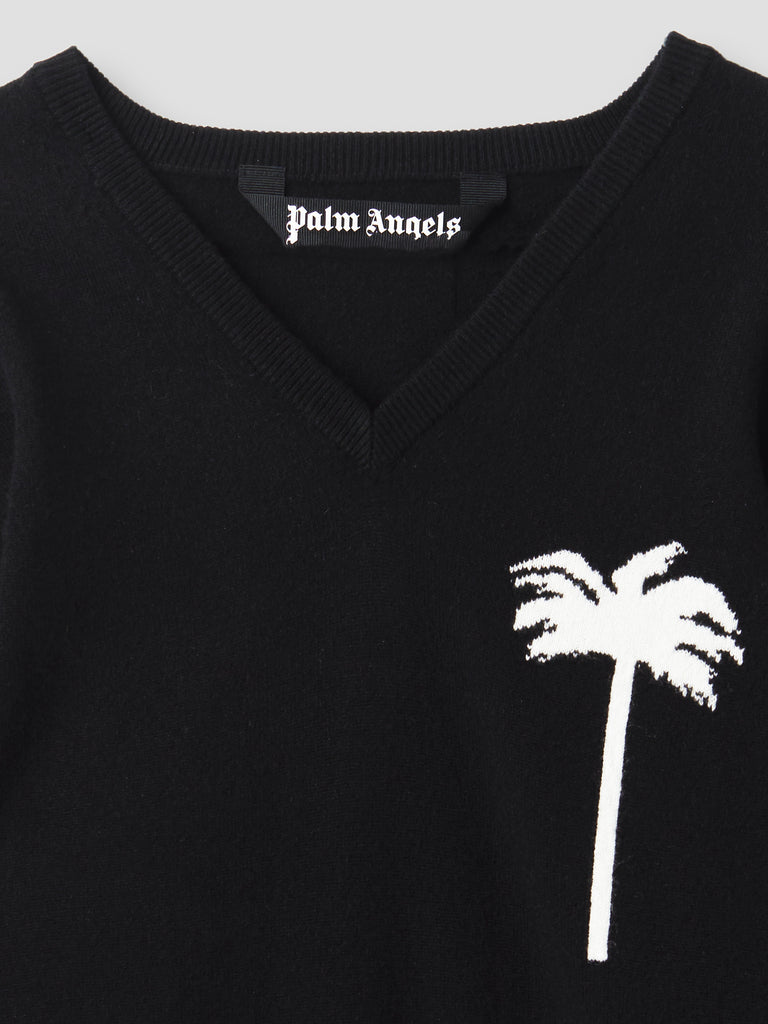 Palm Angels PXP Cashmere Sweater Black