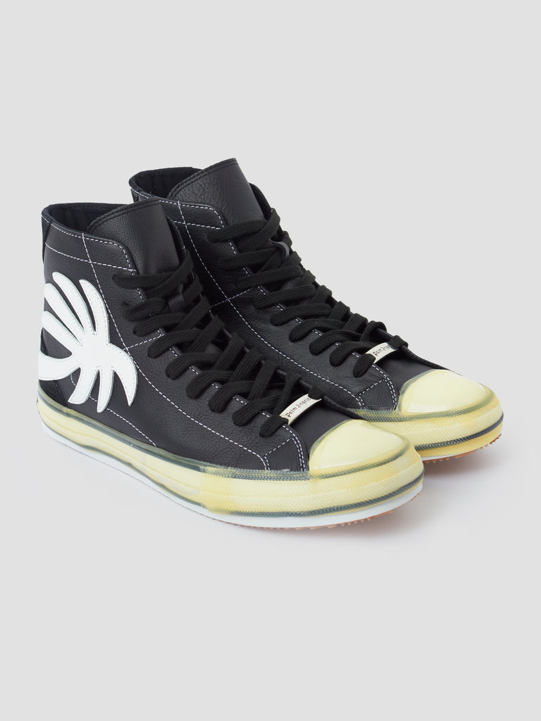 Palm Angels Vulcanized Palm High Top Black